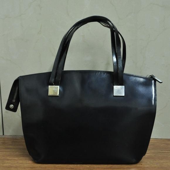 64ef28e77b2 Celine Bags   Black Leather Satchel Handbag Purse   Poshmark